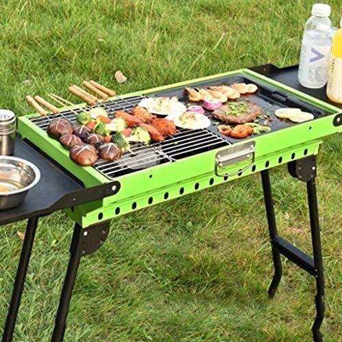 Barbecue Grill Barbecue Grill-Barbecue épaississement extérieur BBQ Maison Charbon de Bois Sauvage 5 ou Plus Outils de Barbecue Complet 3 poêle à Charbon @