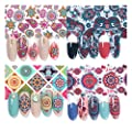 AIFAIFA Nail Foil Stickers, Holographic, Metallic, Color Glass, Mix Leopard Nail Foil Transfer Stickers with Nail Glue, 10 Mix Color Nail Foil
