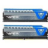 Patriot Viper Elite PVE416G240C5KBL Extreme Performance 16GB (2 x 8GB) DDR4 Kit PC4-19200 (2400MHZ) Blue
