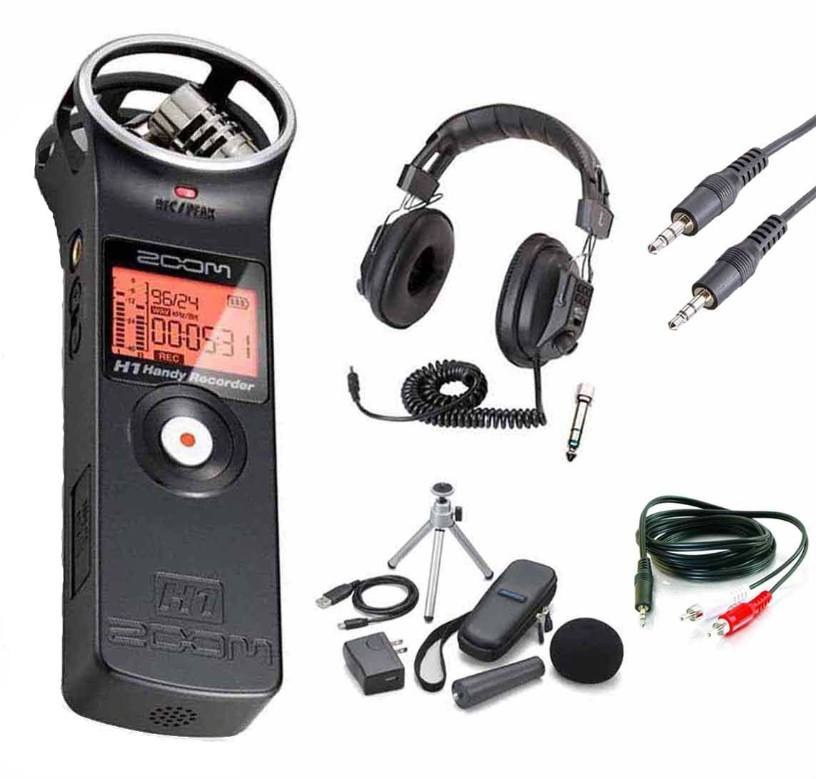 Zoom H1 Digital Recorder Bundle with Zoom APH-1 Accessory Pack and Headphones