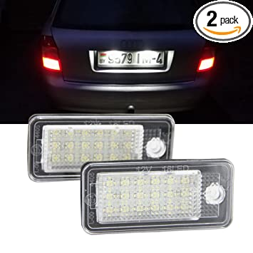 Amazon.com: Audi A4 luz de matrícula – Nslumo LED lámpara de ...