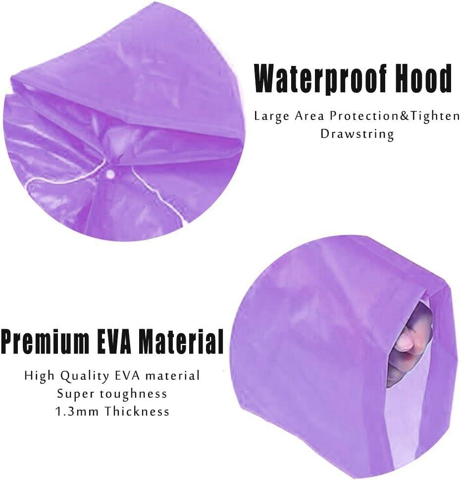 /Packable PVC Ligero Ni/ñas Ni/ños Chubasquero con Capucha y Mangas Ideal para Camping 2/Unidades Eklead Kids ni/ños Toddler Lluvia Poncho/ Viajes y Actividades al Aire Libre