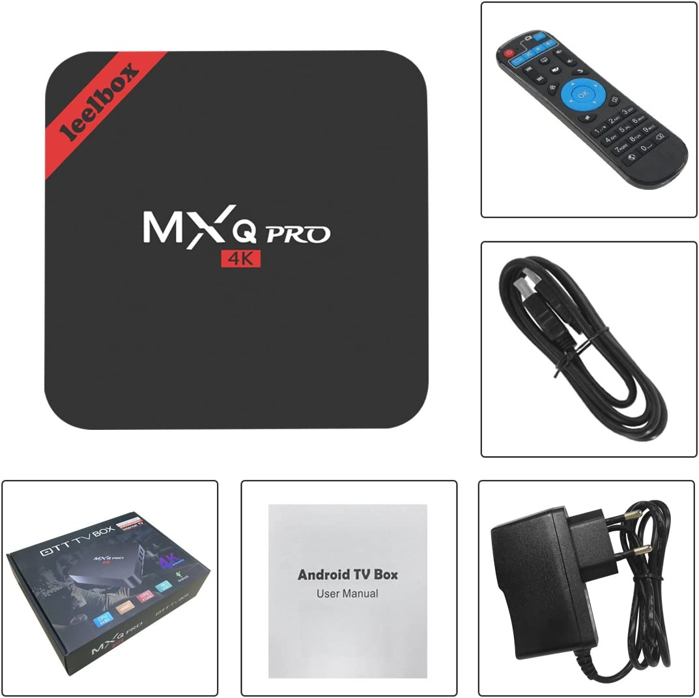 Leelbox MXQ PRO Android TV Box Smart TV Box Amlogic S905 64bits 2K & 4K H: Amazon.es: Electrónica