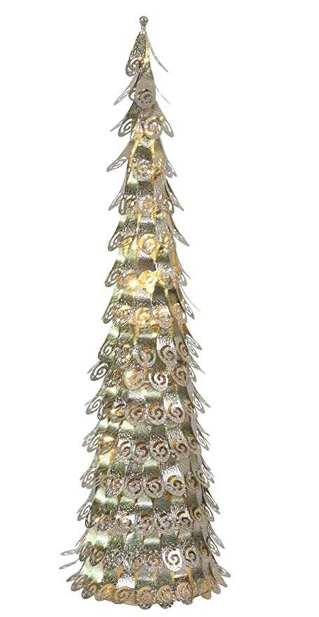 vickerman 4 pre lit champagne christmas cone tree yard art decoration warm clear