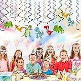 AYUQI Dinosaur Hanging Swirl Decorations - Garland Hanging Swirl - Dinosaur Themed Baby Birthday PartySpirals Great for Baby Shower, Boy's Birthday Decor