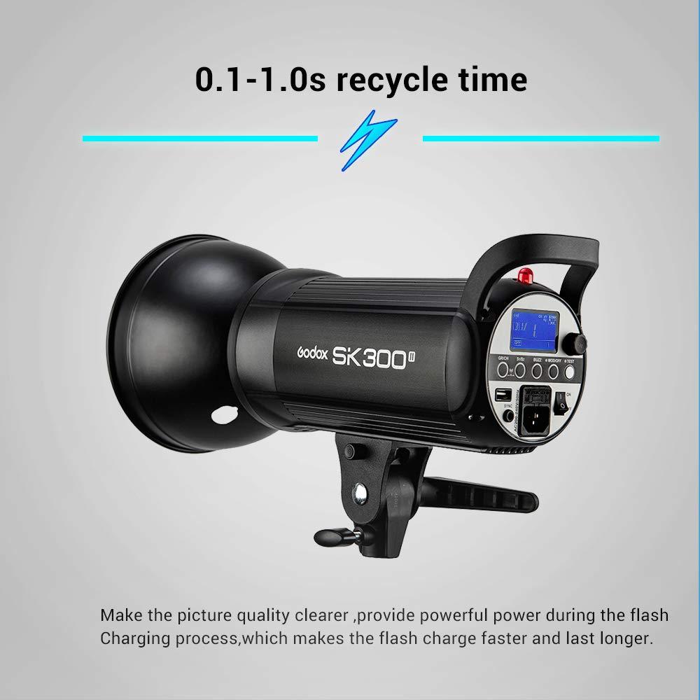 Godox SK300II Studio Strobe 300Ws GN65 5600K Bowens Mount Monolight, Built-in Godox 2.4G Wireless System, 150W Modeling Lamp, Outstanding Output Stability, Anti-Preflash, 1/16-1/1 40 Steps Output by Godox (Image #2)