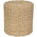 ORIENTAL FURNITURE Rush Grass Knotwork Stool – Natural Review