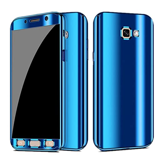 sports shoes d2e81 942f6 Case for Galaxy A7 A5 Case 3 in 1 Full Body Plating Mirror Screen  Protective Cover
