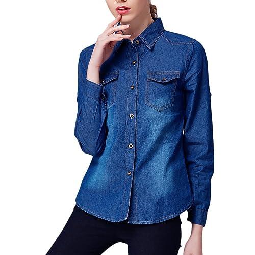 Zhhlinyuan High Quality Ventas calientes Classic Long Sleeve Denim Lapel Thin Cardigan Long Shirt El...