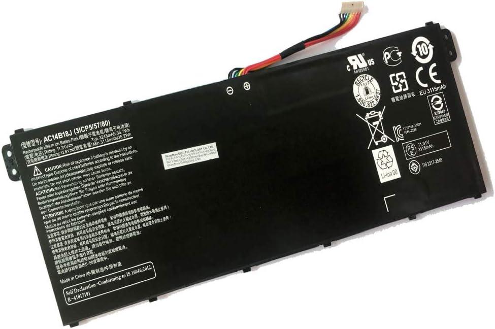Powerforlaptop Laptop Replace Battery for A Acer TravelMate B115, P236, P276 X359 X349 B115-M B115-MP Series Notebook KT.00403.028, KT.0040G.002, KT.0040G.006 AC14B18J(3ICP5/57/80) AC14B13J