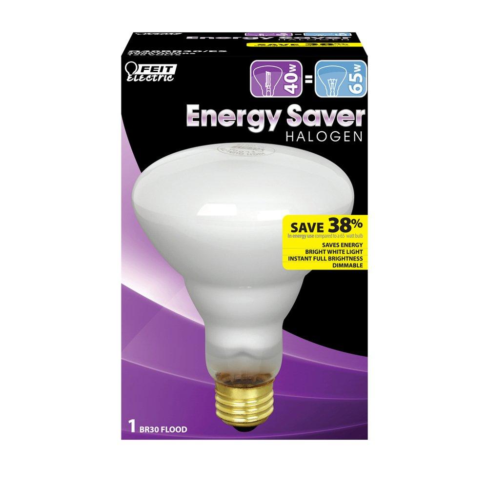Feit Electric Q40BR30 ES Energy Saving 40 Watt Halogen BR30 Bulb