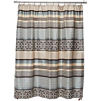 Madison Park Princeton Jacquard Shower Curtain Blue 72x72