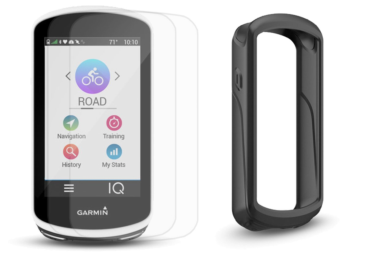 Garmin Edge 1030 Cycle Bundle | with PlayBetter Silicone Protective Skin & HD Glass Screen Protector | Bike Mounts & USB Cable | GPS Bike Computer, Navigation (GPS Only, Black Case)