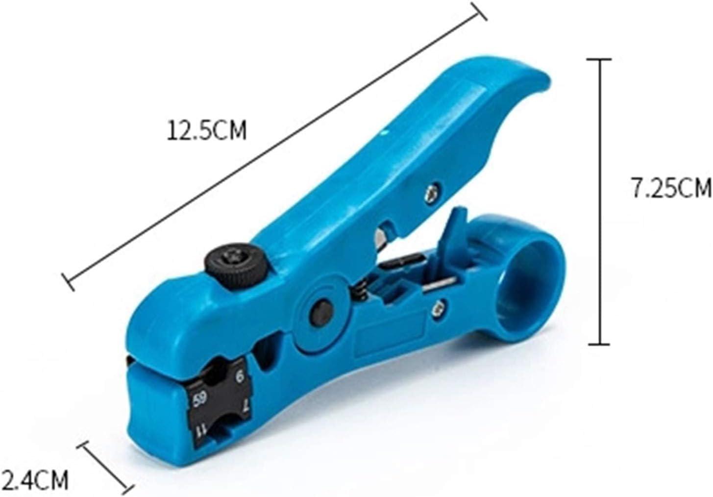 Multifonction Pince /à d/énuder Coaxial Outil R/éseau D/énudeur de C/âble R/éseau D/énudeur de C/âble//Couteau//Appareil