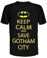 "T-Shirt Batman ""Keep Calm and Save Gotham City"""