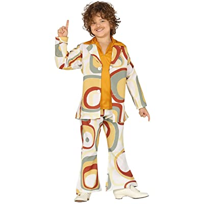 Boys 1960s 1970s Disco Suit Hippie Hippy Woodstock Soul Train Party Carnival Fancy Dress Costume Outfit 5-12 Years: Pet Supplies