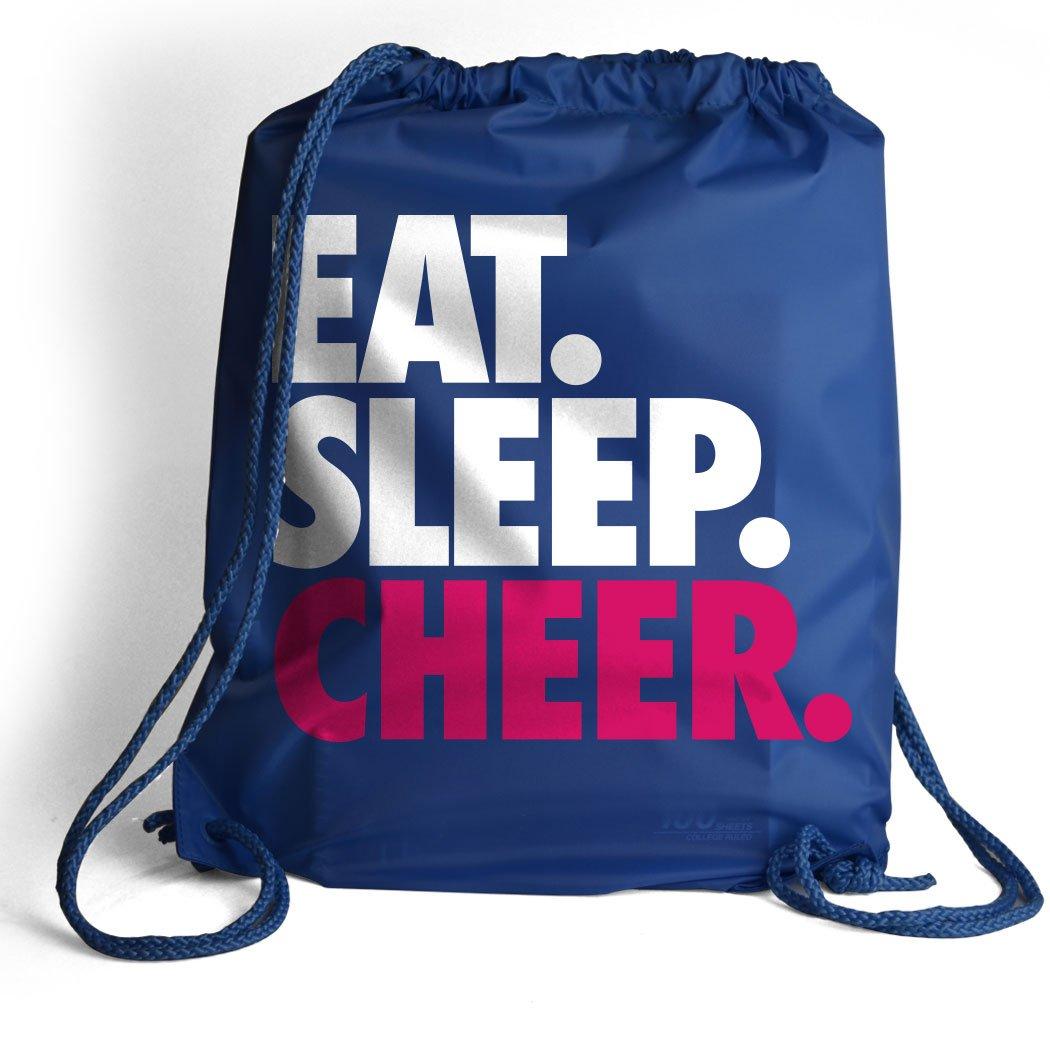 Eat. Sleep. Cheer. Cinch Sack | Cheerleading Bags by ChalkTalk SPORTS | Royal by ChalkTalkSPORTS (Image #1)