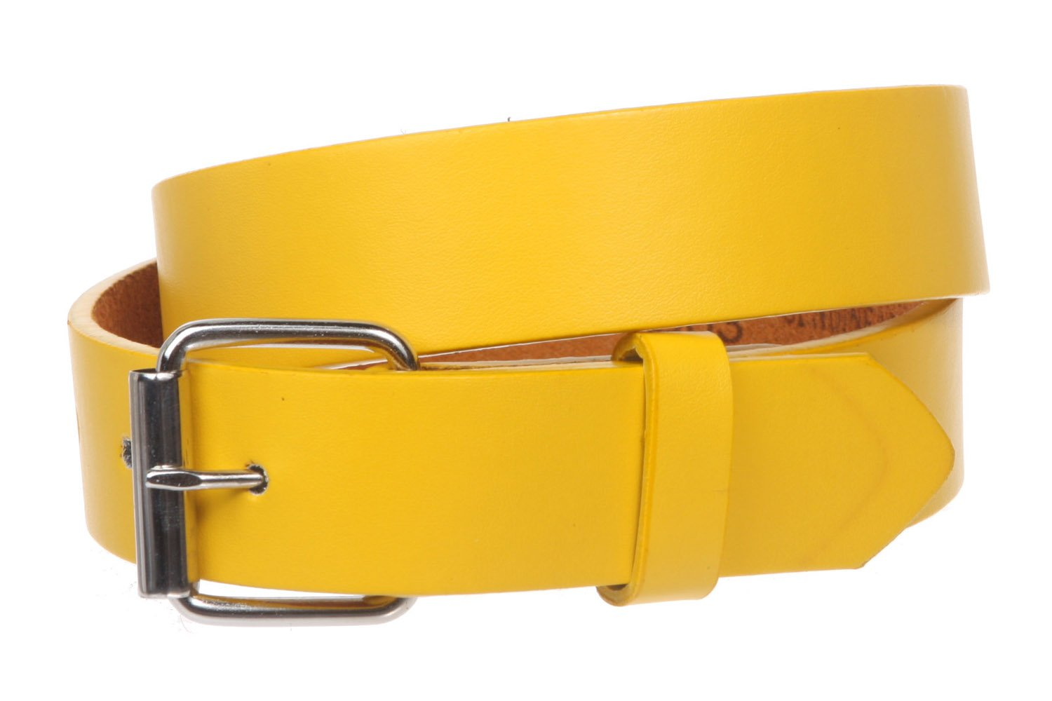 20 Beige S Kids 1 Snap On Plain Leather Belt