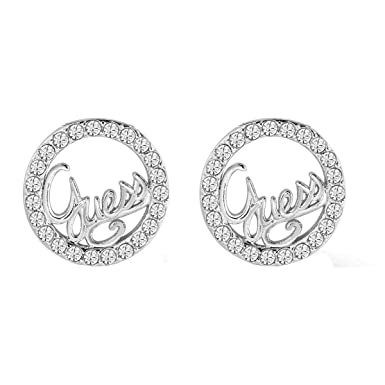 Guess Women's Stud Earrings Stainless Steel with White UBE71206 15N1qQQUA