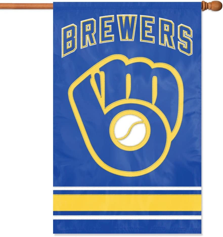 Party Animal MLB Milwaukee Brewers Applique Banner Flag