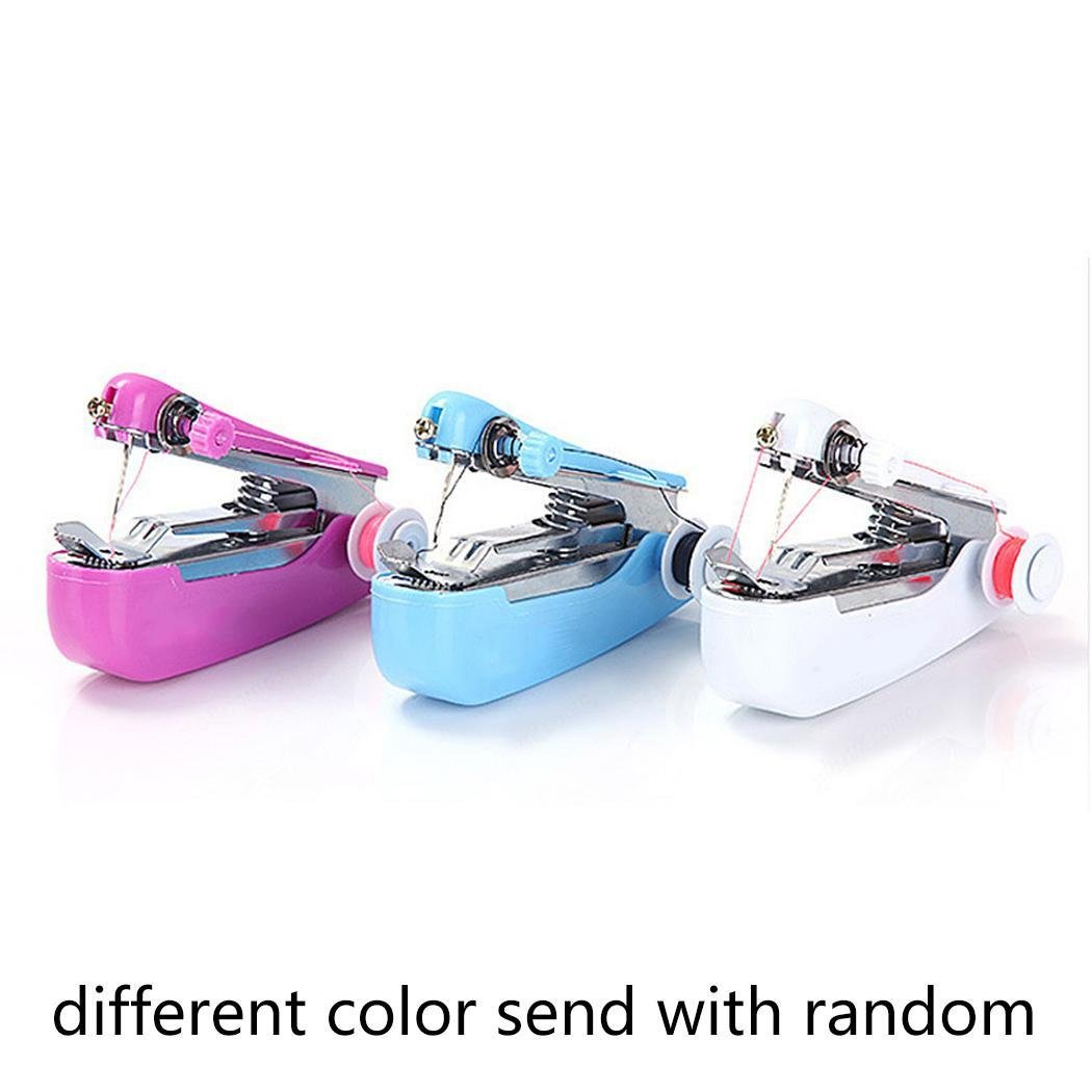 Qenci Stitch Travel Household Electric Portable Mini Handheld Sewing Machines