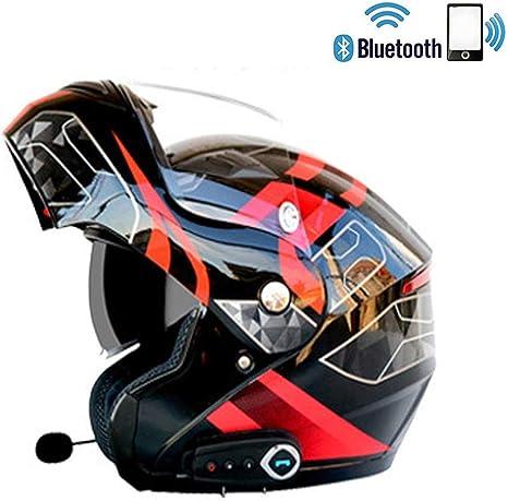 C-TK Bluetooth Integrato modulare Moto Casco ECE 22.05 Certificazione DOT Sicurezza Standard-Full Face Racing Casco complessivo Moto