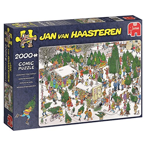 Christmas Trees Direct Uk - Jumbo Jan Van Haasteren Christmas Tree Market Jigsaw Puzzle (2000 Piece)