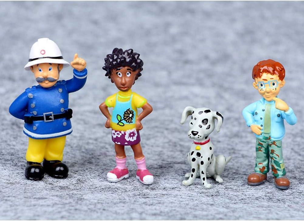 Amazon.com: 12 piezas de figuras de bombero Sam juguetes ...