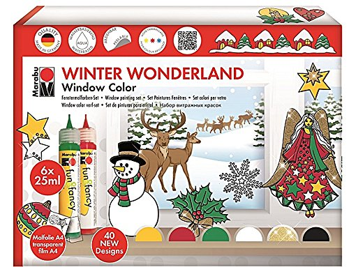 Marabu Window Color ´fun fancy´, Set WINTER WONDERLAND