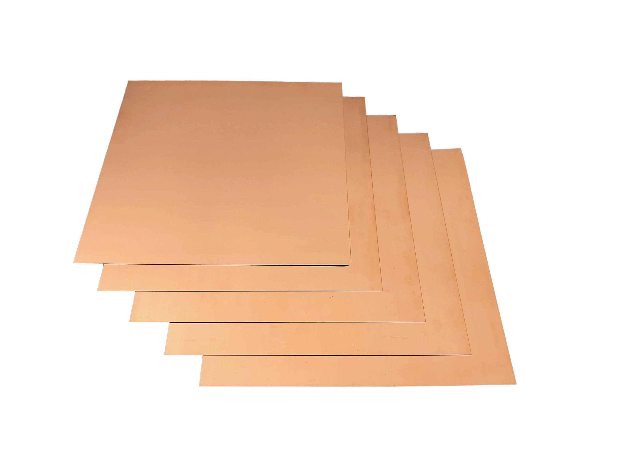 12''x12'' Copper Sheet Metal - Lead Free - (2) 16 Ounce workable Copper Sheets for Jewelry, Crafts, Repairs, Enameling, Electrical by Flashing Kings