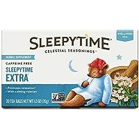 Celestial Seasonings Sleepytime Extra Wellness Tea Herbal Supplement, 20 Count (Pack of 2)