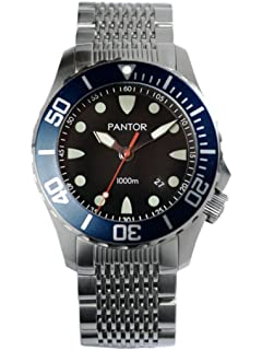 Pantor Seahorse 1000m Big Size 45mm Pro Automatic Dive Watch with Helium Valve Rotating Bezel Sapphire