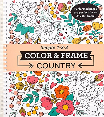 Color & Frame Coloring Book - Country (Color Stars Frame Home)