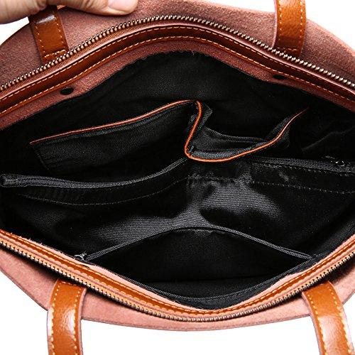 Genuino Zurriago Las Bolso De Mano Brown De De De Cuero Bolso Bolsos Compras Mujeres Hombro De Del WHUA wX4SRqq