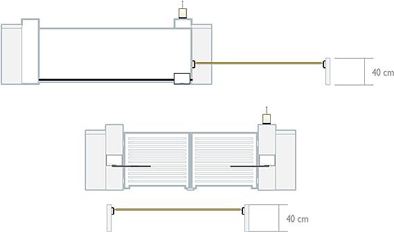 Extel WEATPC 3 Juego de 2 fotocélulas, Negro: Amazon.es: Bricolaje y herramientas