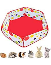 Portable Small Animals Playpen, Outdoor/Indoor Pop Open Pet Exercise Fence, Guinea Pig Accessories Metal Wire Yard Fence C&C Cage Tent for Rabbits, Hamster, Chinchillas and Hedgehogs