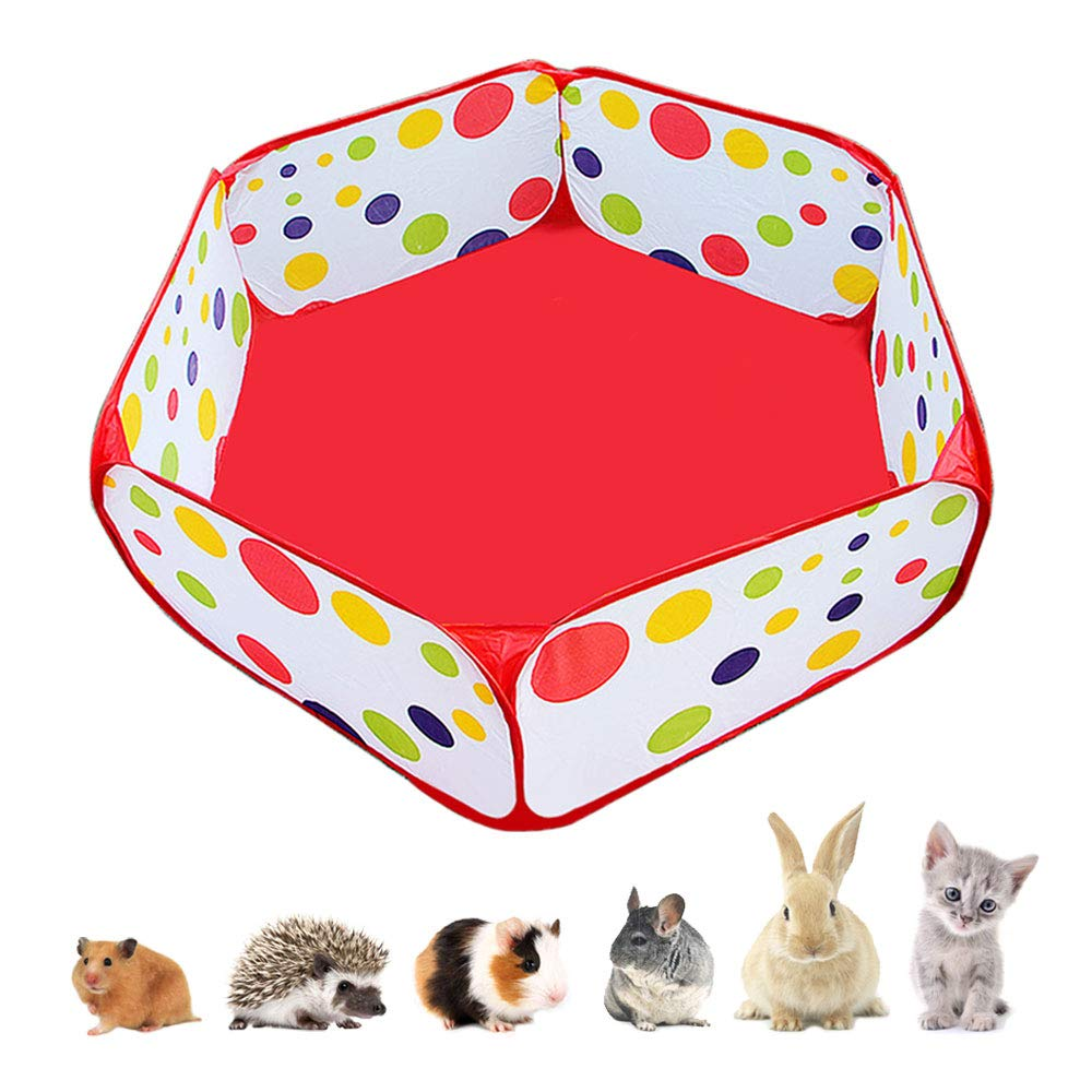 Amakunft Portable Small Animals Playpen, Outdoor/Indoor Pop Open Pet Exercise Fence, Guinea Pig Accessories C&C Cage Tent for Rabbits, Hamster, Chinchillas and Hedgehogs by Amakunft