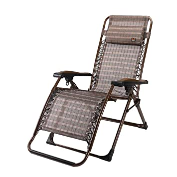 Amazon.com: Silla reclinable plegable de cubierta sillas ...