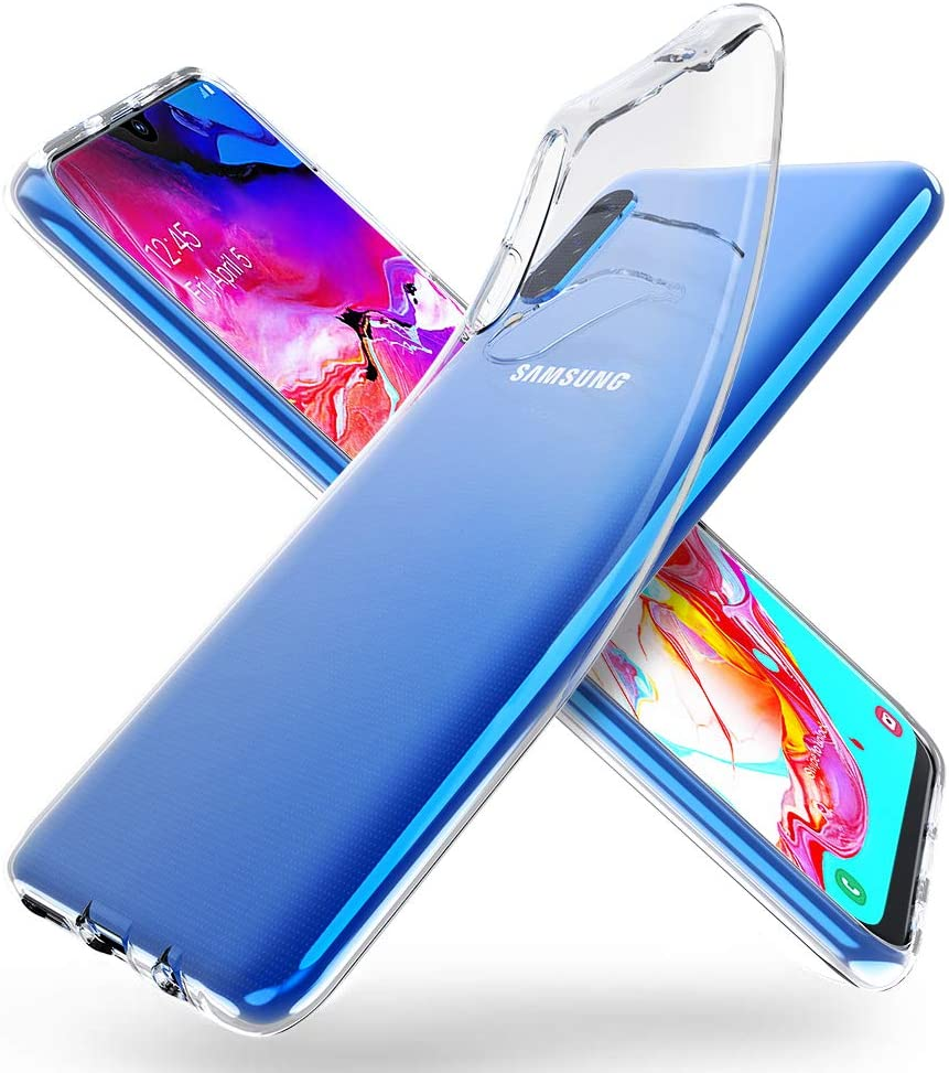 ORNARTO Funda para Samsung A70, Transparente Delgada Silicona ...