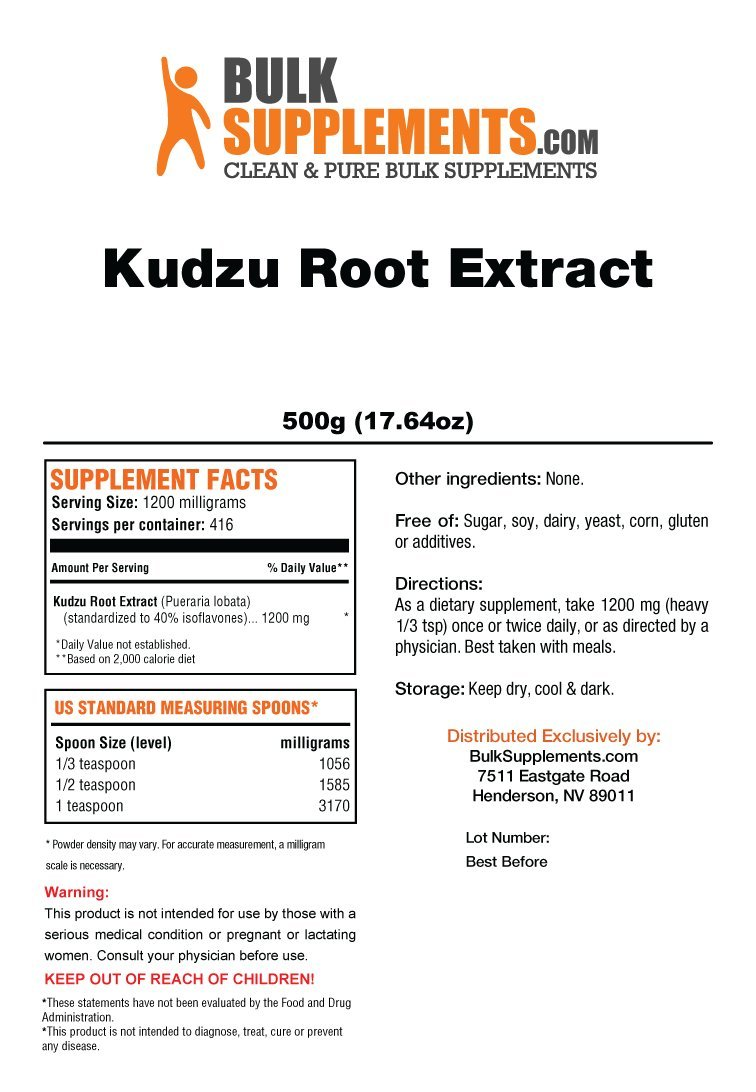 Bulksupplements Kudzu Root Extract Powder (500 grams) by BulkSupplements (Image #2)