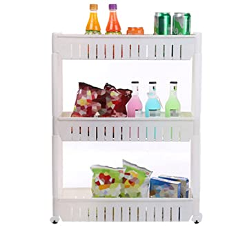 Amazoncom Tosnail 3tiers Slim Slide Out Storage Tower Pantry on