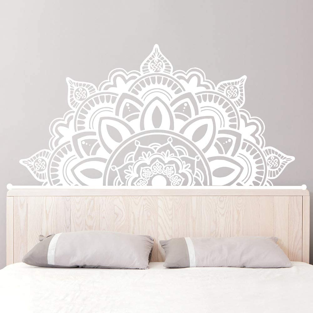 Ajcwhml Media Mandala Apliques cabecero Art Deco Estudio de Yoga Etiqueta de la Pared Dormitorio Principal decoraci/ón para el hogar 83 cm x 42 cm