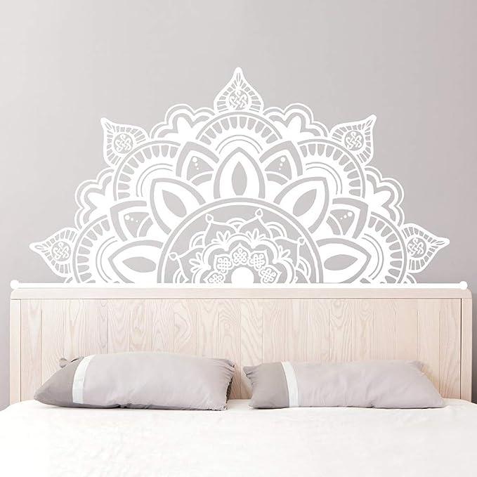 Ajcwhml Media Mandala Apliques cabecero Art Deco Estudio de Yoga Etiqueta de la Pared Dormitorio Principal decoración para el hogar 217 cm x 110 cm: Amazon.es: Hogar