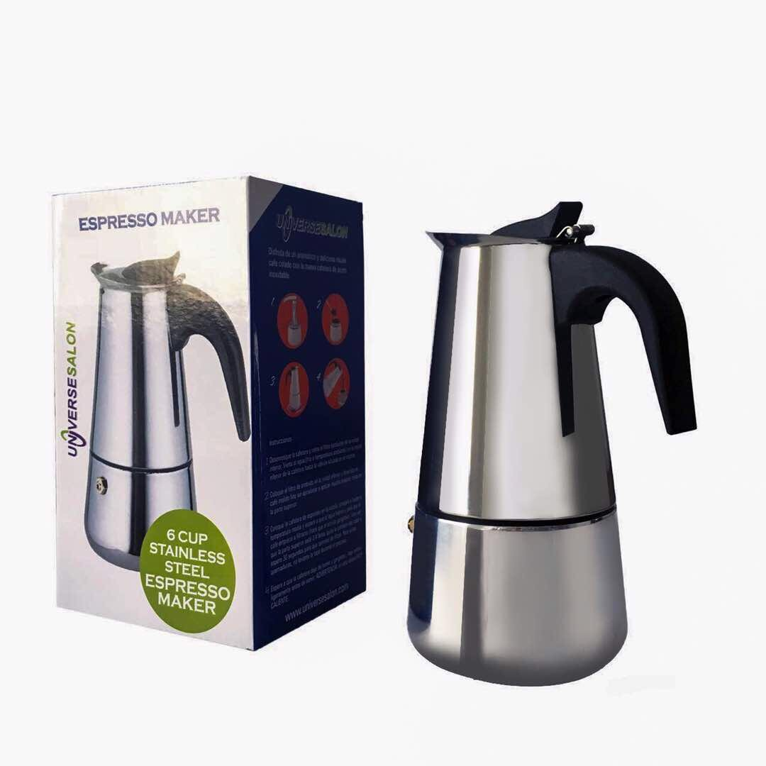 6-Cup Stovetop Espresso Maker by Universe Salon