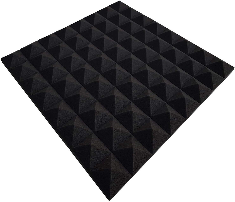 D/ämmung, 99 x 49 x 4 cm, Anthrazit//Schwarz Pyramiden Akustik Akustikschaumstoff Noppenschaumstoff,Akustik Schaumstoff