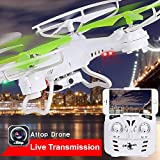 Premium Top Flyer Cyclone Remote Control Drone RC Quadcopter 2.4GHz 4-CH w Gyroscope, 360 Degree Flips, Wi-Fi camera, Mobile Remote Control, Long flight distance and time, Light weight, Great Fun