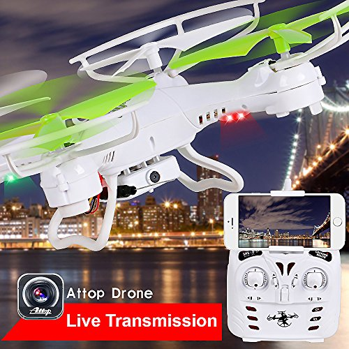 Premium Top Flyer Cyclone Remote Control Drone RC Quadcopter 2.4GHz 4-CH w Gyroscope, 360 Degree Flips, Wi-Fi camera, Mobile Remote Control, Long flight distance and time, Light weight, Great Fun (Cyclone Radio Flyer)