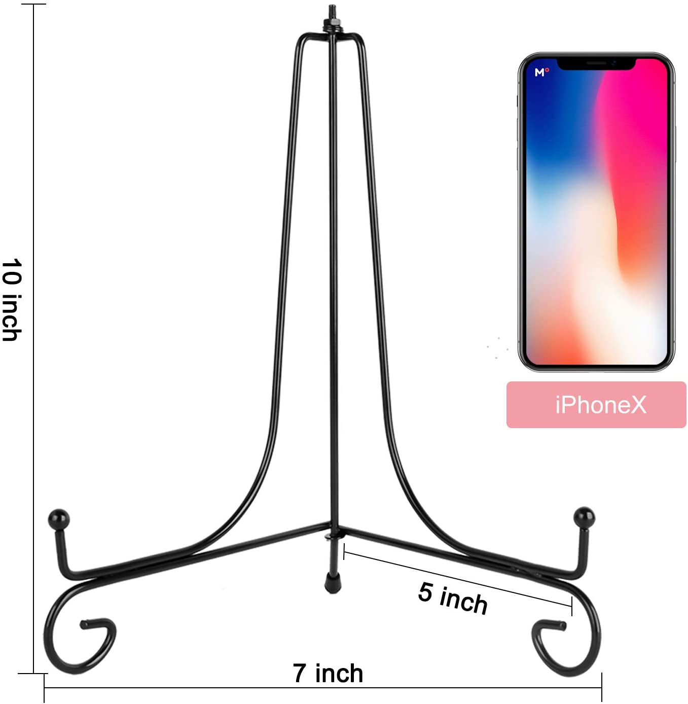 Book Display Stand Easel Display Stand Picture Frame Holder Stand Teamkio 2 Pack Improved Anti-Slip 4 Inch Plate Holder Display Stand