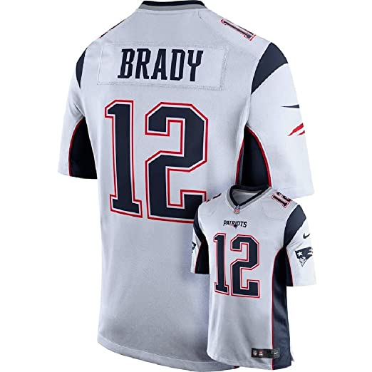 sports shoes 252ea b499b NIKE Tom Brady New England Patriots White Men's Game Day Jersey Large