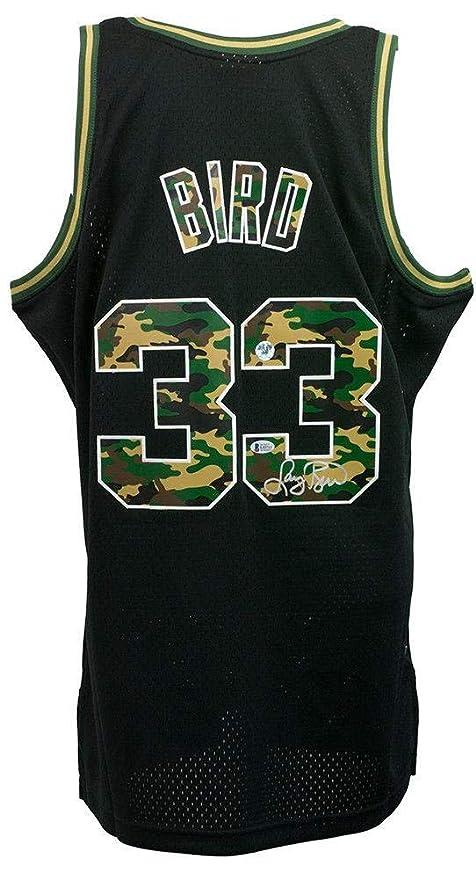huge selection of ba2e3 e886d Autographed Larry Bird Jersey - Mitchell & Ness Black ...